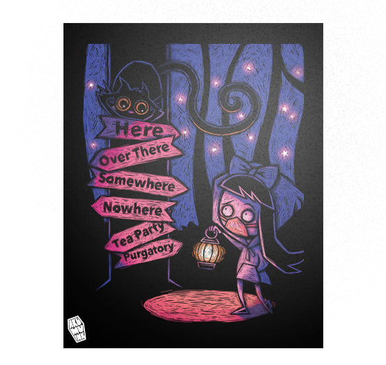 A Smile in the Dark Poster, art, Akumu ink, goth, emo
