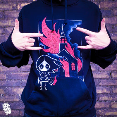 Akumu Ink The Prophecy Unisex FLEECE Hoodie, long sleeve, Akumu ink, goth, emo