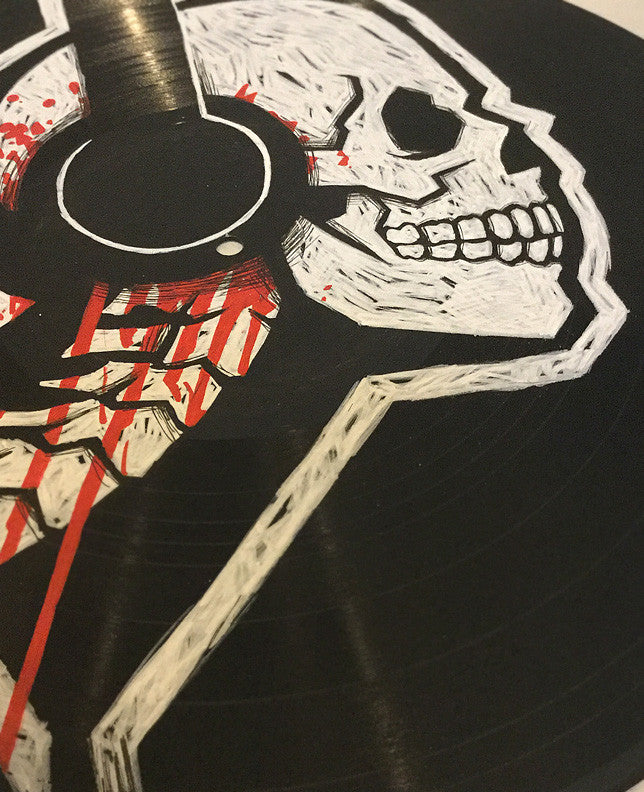 Akumu record, Death record, evil record, haunted record, art on record, art on vinyl