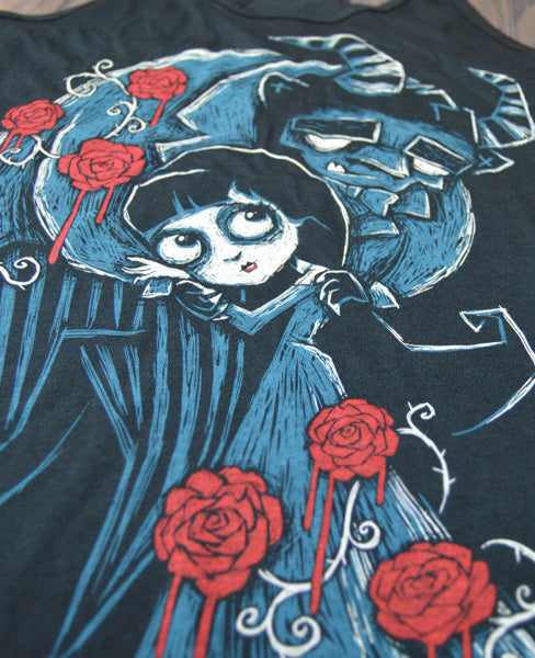 Misery and the Beast Loose Scoop, Women Shirts, Akumu ink, goth, emo
