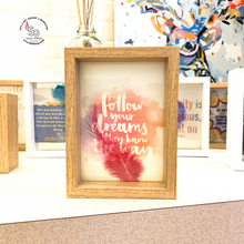 Load image into Gallery viewer, Wooden Frame with Motivational Quote