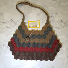 Load image into Gallery viewer, Handsewn Multi Colors Patchwork Shoulder Bag