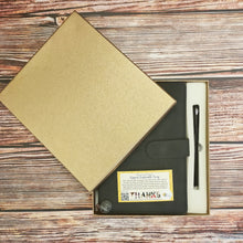 Load image into Gallery viewer, PU Leather Journal with Magnetic Closing and Pen