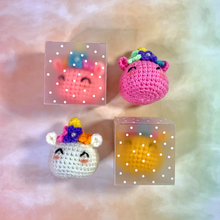 Load image into Gallery viewer, Hand Crocheted Unicorn Dim Sum Key Ring