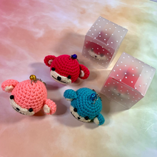 Load image into Gallery viewer, Hand Crocheted Monkey Dim Sum Key Ring