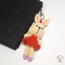 Load image into Gallery viewer, Hand Crocheted Bunny Key Ring