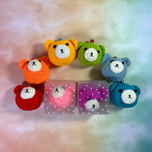 Load image into Gallery viewer, Hand Crocheted Bear Dim Sum Key Ring