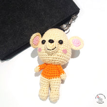 Load image into Gallery viewer, Hand Crocheted Mouse Key Ring