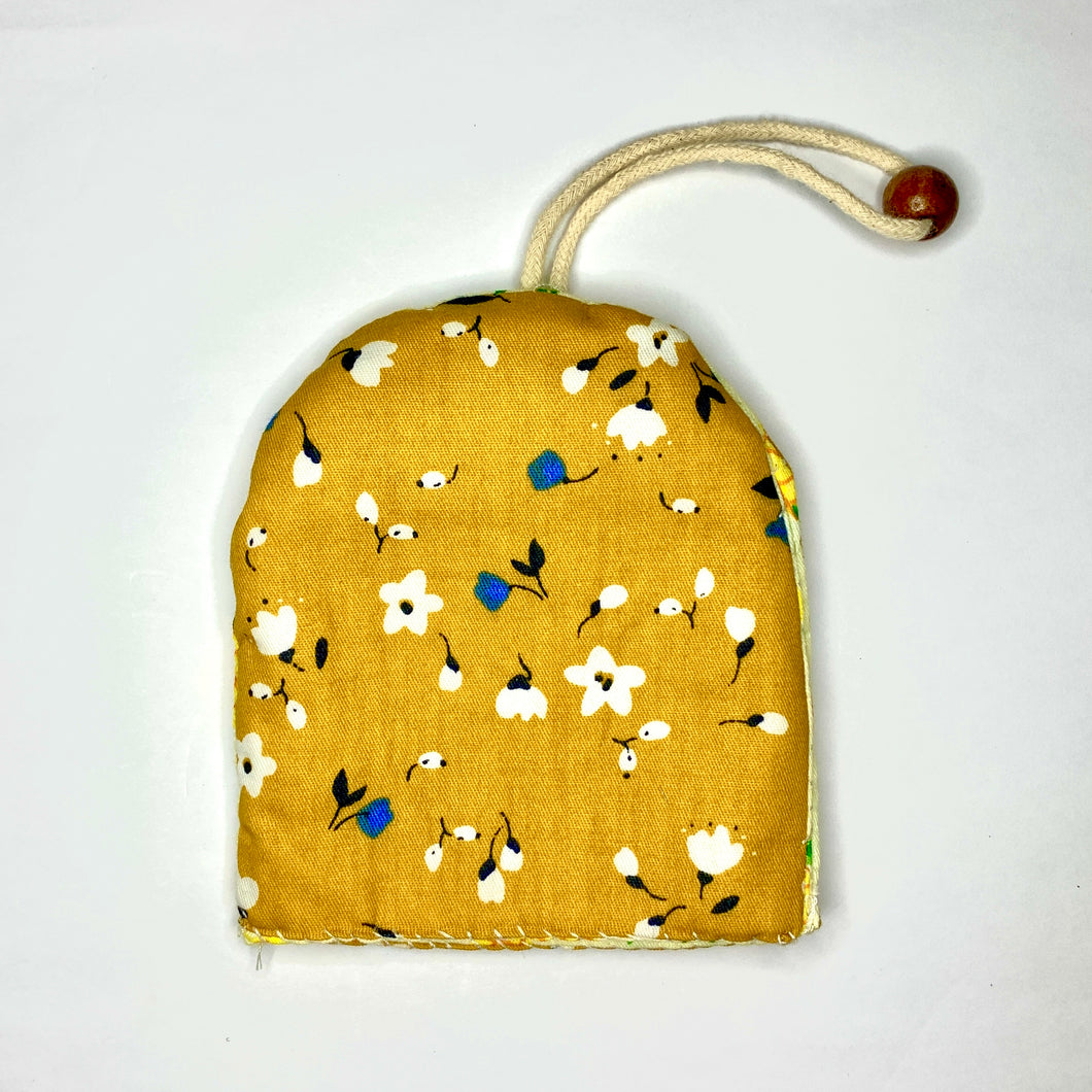 Handsewn Fabric Key Pouch