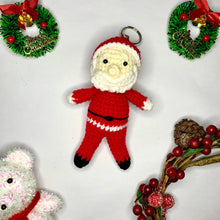 Load image into Gallery viewer, Hand Crocheted Santa and Reindeer