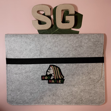 "Load image into Gallery viewer, 18"" Felt Laptop Sleeve with Iron-on Patch"