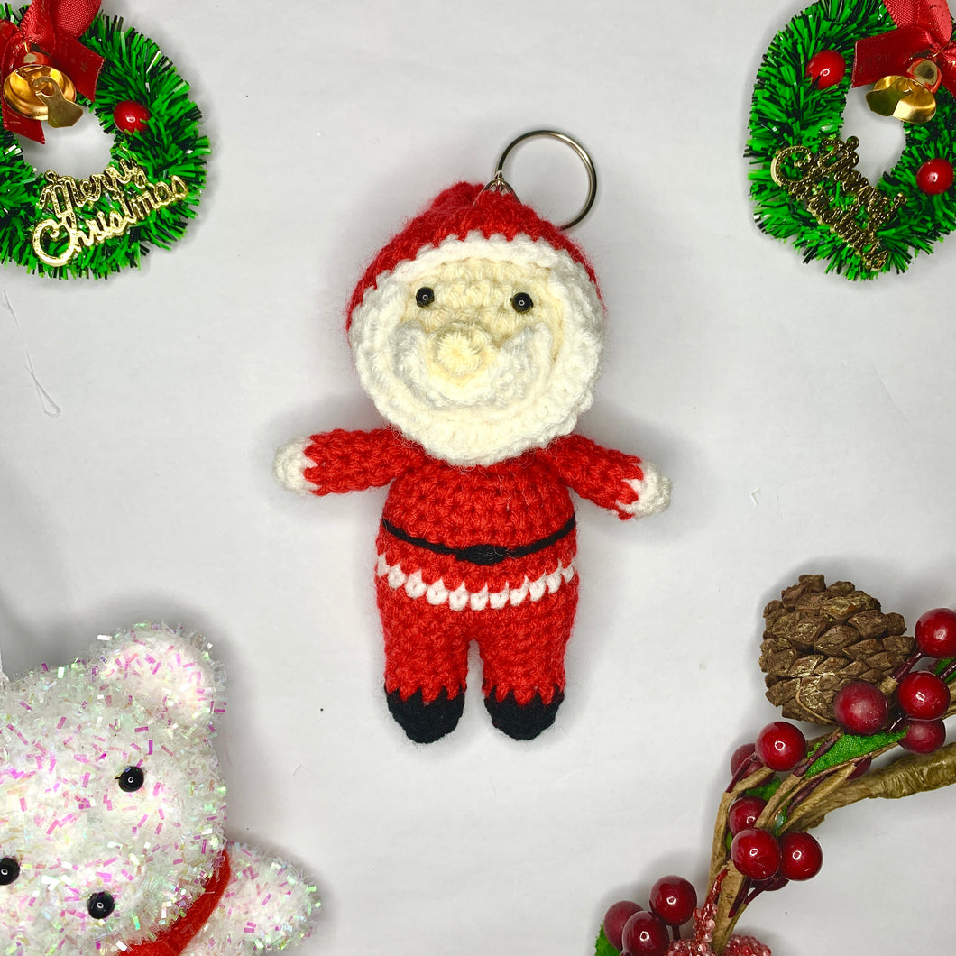 Hand Crocheted Santa and Reindeer