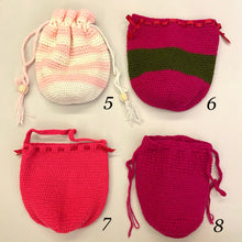 Load image into Gallery viewer, Hand Crocheted Drawstring Pouch