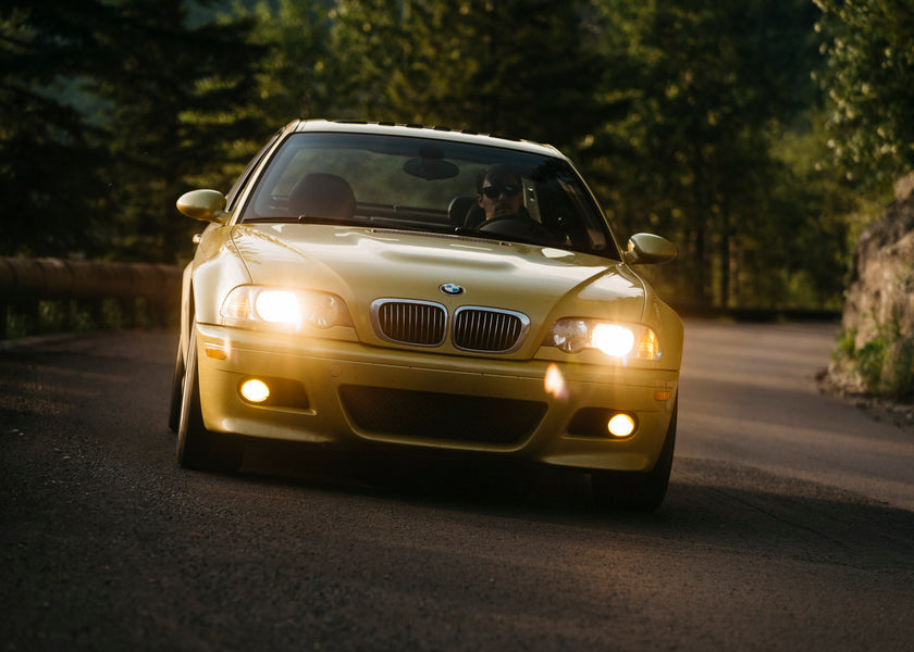 The Scenic Route from Denver to Portland in a Phoenix Yellow BMW E46 M3
