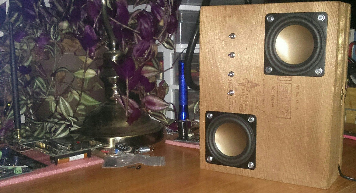Cigar Box Bluetooth Speakers