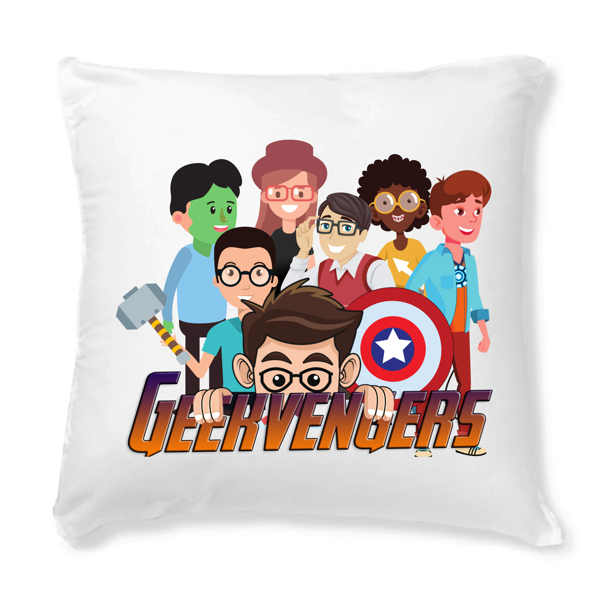 Coussin + Housse - Geekvengers - |TPO-COU-HOU-40| €39 |Film, Geek |vodax