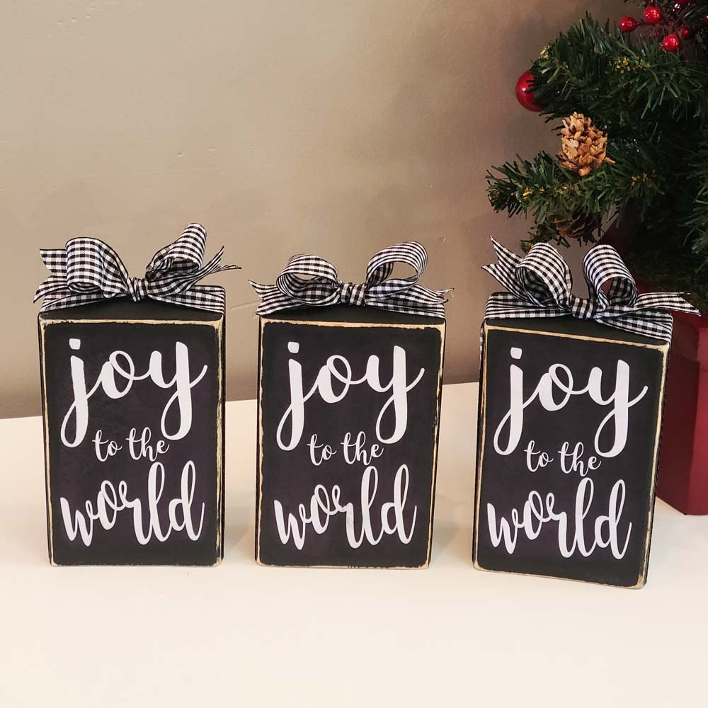 3 Joy to the World Blocks