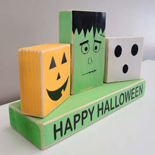 Load image into Gallery viewer, Halloween Characters- Set of 4 Blocks