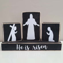 Load image into Gallery viewer, Resurrected Savior- Easter Decor- Set of 4 Blocks