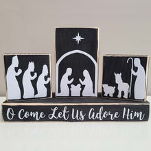 Load image into Gallery viewer, Nativity Scene Decor- Set of 4 Blocks