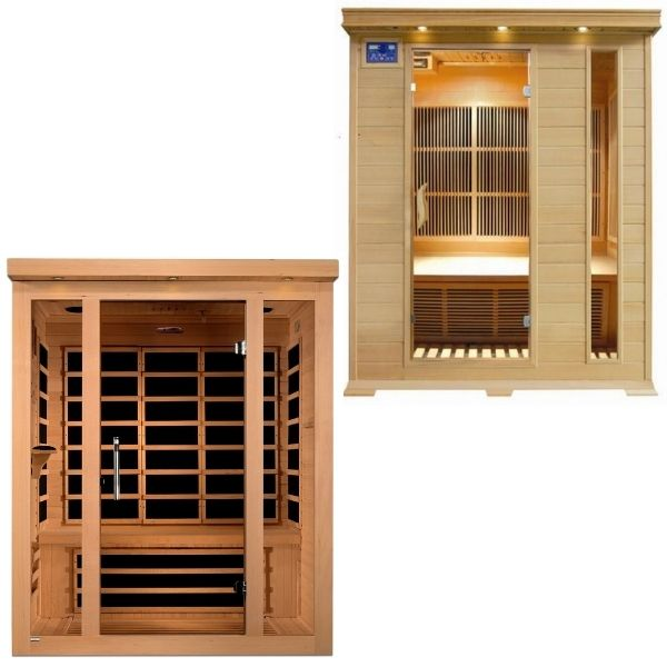 3 Person Infrared Saunas For Sale
