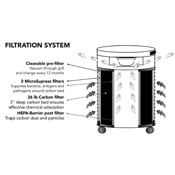 Airpura C600 Air Purifier Chemical & Gas Abatement Filtration System