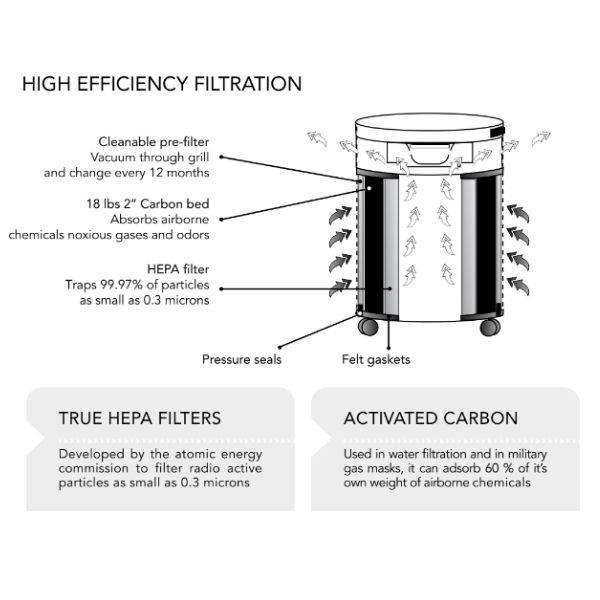 Airpura R600 Filtration System — How it works