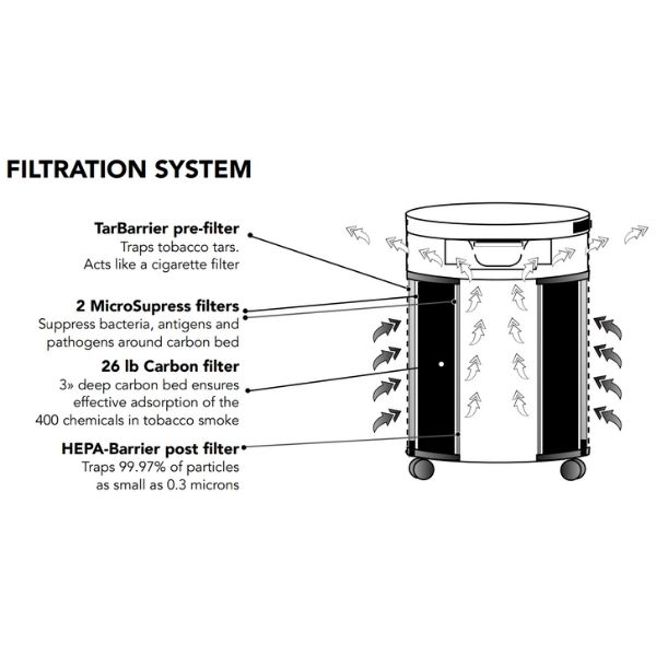 Airpura T600 Air Purifier Tobacco Smoke Remover Filtration System