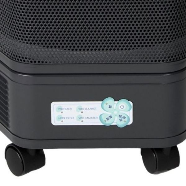 Amaircare 3000 Portable HEPA Air Purifier - close-up of LED control lights