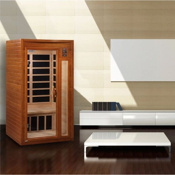 Dynamic Barcelona Elite DYN-6106-01 Ultra Low EMF FAR Infrared Sauna can fit be set up almost anywhere in your house or office building.