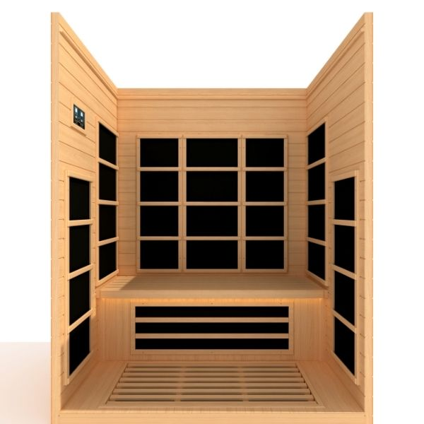 Dynamic Marseille Edition 3 Person Ultra Low EMF FAR Infrared Sauna DYN-6308-01 Sync Preview 3D Front View
