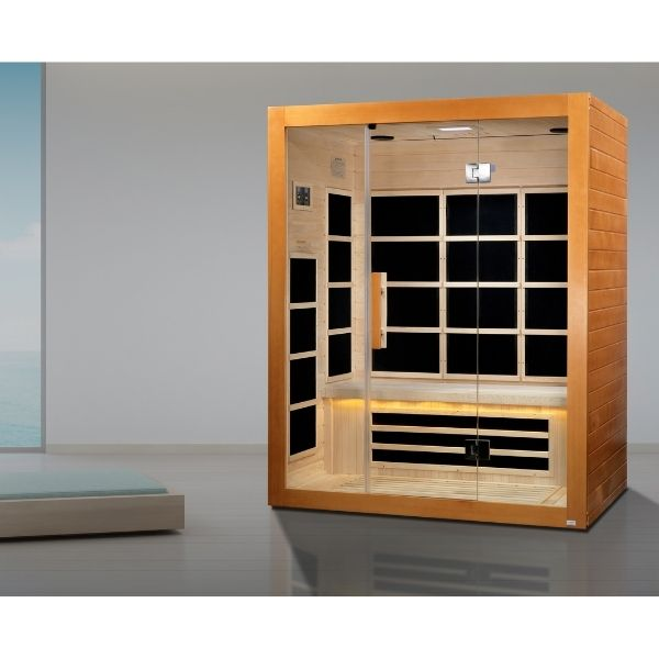 Dynamic Marseille Edition 3 Person Ultra Low EMF FAR Infrared Sauna DYN-6308-01 in home or the office