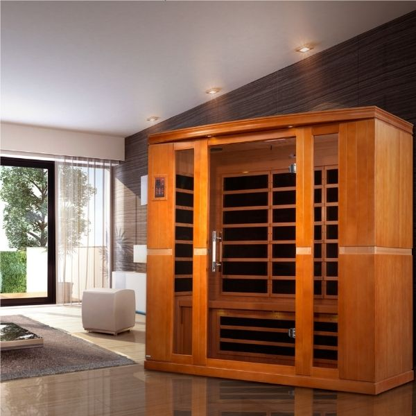 Dynamic Bergamo Edition 4 Person Low EMF FAR Infrared Sauna DYN-6440-01 can be set-up in your home or office.