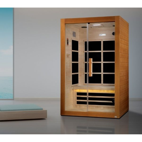 Dynamic Toulouse Edition 2 Person Ultra Low EMF FAR Infrared Sauna DYN-6208-01 can be setup in the Home or Office