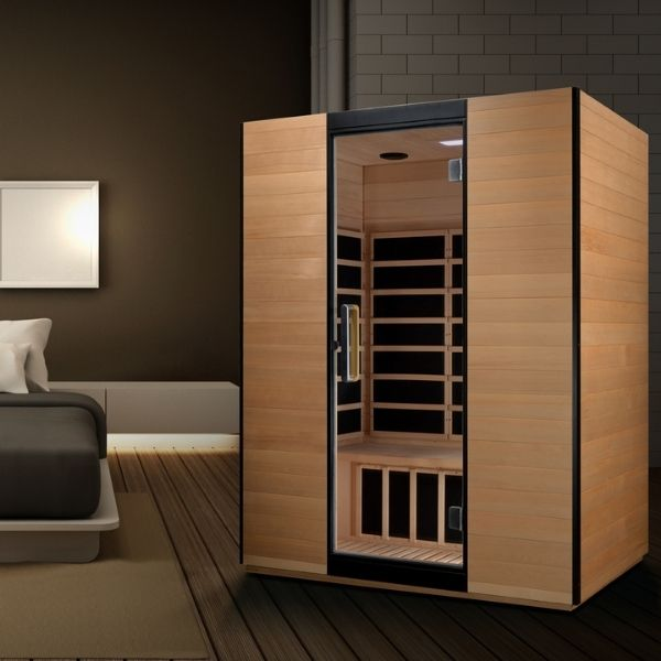 Dynamic Valencia Edition 3 Person Ultra Low EMF FAR Infrared Sauna DYN-6326-01 can be setup in the home or office.