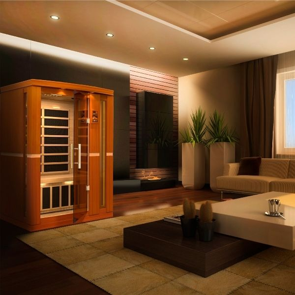 Dynamic Vittoria Edition 2 Person Low EMF FAR Infrared Sauna DYN-6220-01 can be set-up in your home or office