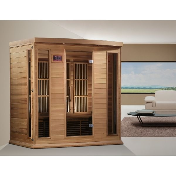 Maxxus 4 Person Low EMF FAR Infrared Carbon Sauna MX-K406-01 can be set-up in the home or office.