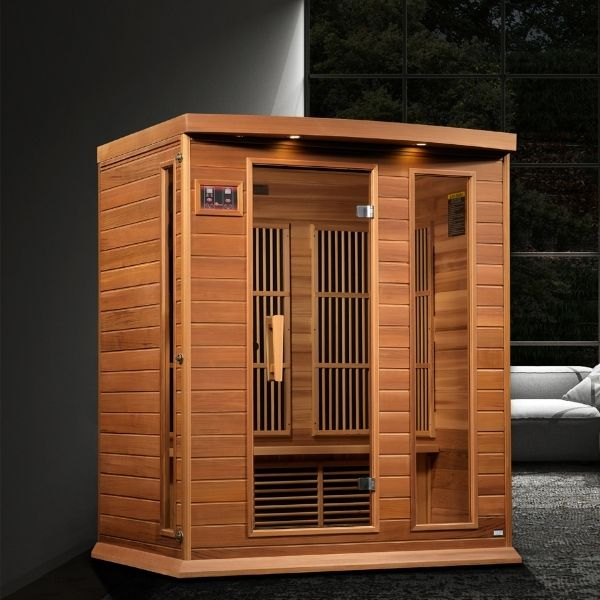Maxxus Avignon Edition 3 Person Near Zero EMF FAR Infrared Carbon Sauna MX-K306-01-ZF can be set-up in the home or office