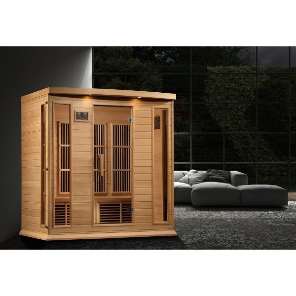 Maxxus Montilemar Edition 4 Person Near Zero EMF FAR Infrared Carbon Sauna MX-K406-01-ZF can be set-up in the home or office