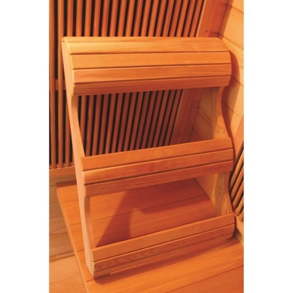 SunRay Burlington HL200D Two Person Outdoor Ergonomic Backrest brings comfort to your sauna experience
