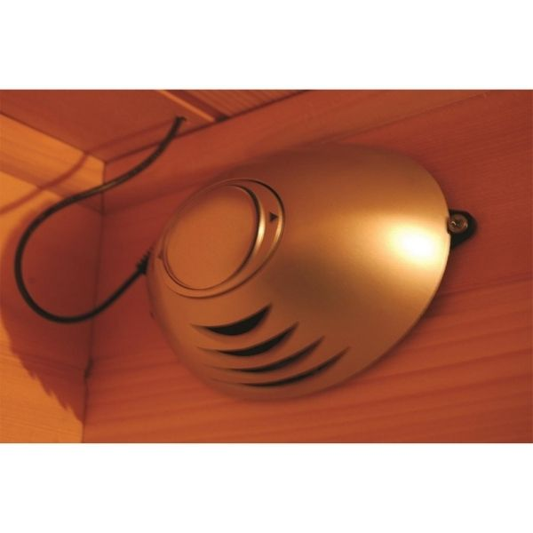 SunRay Heathrow HL200W 2 Person Sauna Oxygen Ionizer for purifying the air inside the sauna by killing odor causing bacteria.