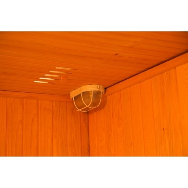 SunRay Baldwin HL200SN Two Person Traditional Sauna Lighting with ventilation
