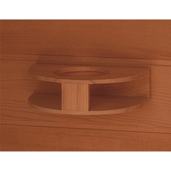 SunRay Cayenne HL400D Four Person Outdoor Sauna Cup Holder