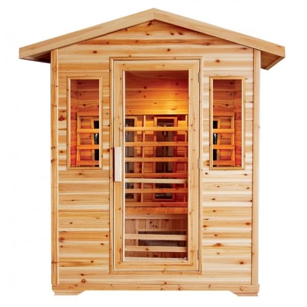 SunRay Cayenne HL400D Four Person Outdoor Sauna Front View