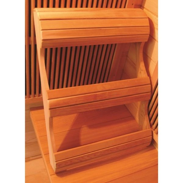 SunRay HL100K2 Barrett One Person Infrared Sauna Ergonomic Backrest