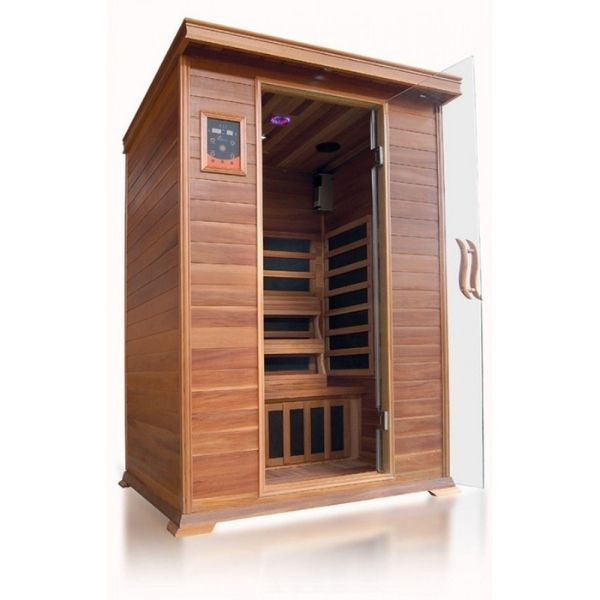 SunRay Sierra HL200K Two Person Infrared Sauna 3D View