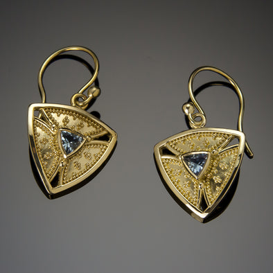 Aquamarine Trinity Earrings