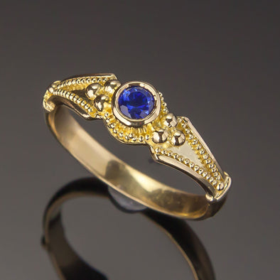 Blue Sapphire Classical Ring