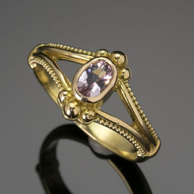 Morganite Oval Classical Ring