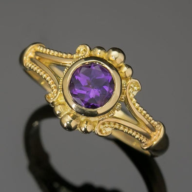 Amethyst Classical Ring